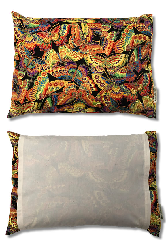 Quilted Cotton Pillow Cover for beans72 Buckwheat Pillows King Size 20x36
